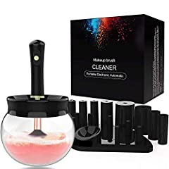 HIGH QUALITY MAKEUP BRUSH CLEANER & DRYER: the makeup brush cleaner is made of premium materials for long lasting service, precision, and safety. our electric makeup brush cleaner cleans your brushes to 99% for better performance applying makeup. CLE...