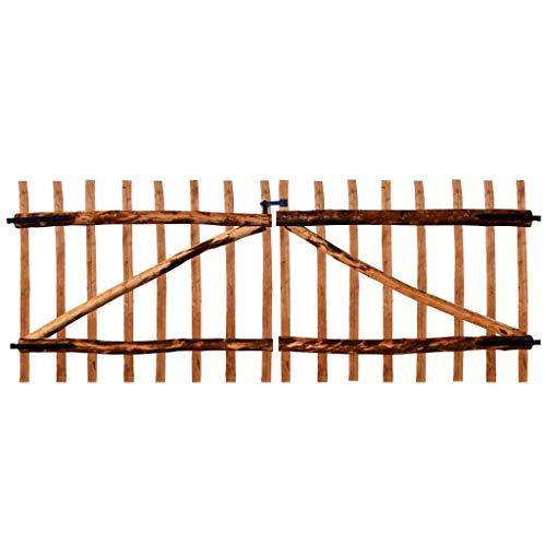Zubeh/ör Breite: 100cm H/öhe 80 cm T/ür/öffnung nach Links Abstand zwischen den Zaunlatten 6-7 cm BOGATECO Zauntor Haselnuss mit Scharniere inkl Gartentor aus Holz f/ür Staketenzaun