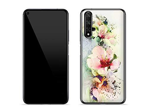 etuo Hülle für Huawei Nova 5T - Hülle Fantastic Hülle - Teerosen Handyhülle Schutzhülle Etui Hülle Cover Tasche für Handy