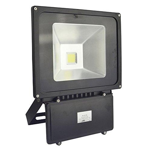 AB Tools Projecteur LED 70w Haute Puissance de sécurité 5000 Lumen 6000k Blanc Jour E06 étanche
