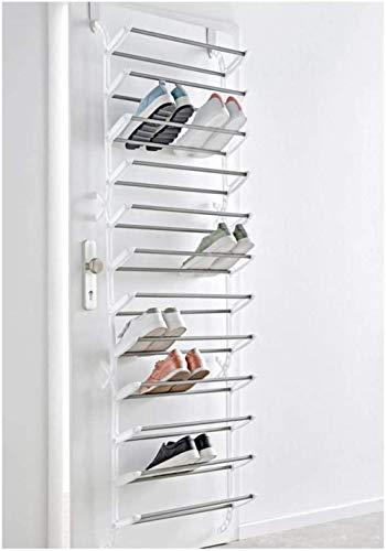 A-Generic Estante de Zapatos de Miavilla para la Puerta - para Colgar - por hasta 36 Pares de Zapatos - plástico, Metal