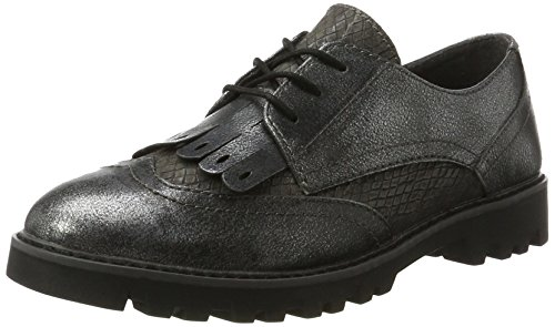 Tamaris Damen 23665 Oxfords, Grau (Graphite Comb), 39 EU