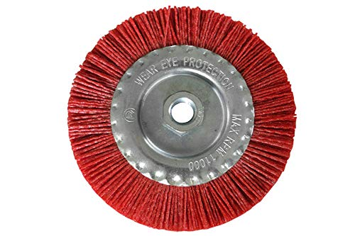 Ø 125mm Nylon Kunststoffbürste Scheibenbürsten M14 Gewinde für Winkelschleifer