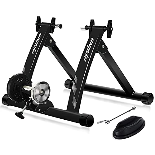 UNISKY Bike Trainer Stand Indoor Exercise Magnetic Bicycle Training Stand Quick Release Riding Stand for Mountain & Road Bike