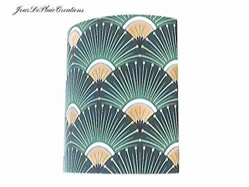 Wandleuchte Grün und Gold Art Deco Wandlampe Geschenkidee - Geburtstag - Weihnachten - Dekoration - Muttertag