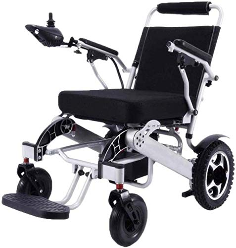 Electric Wheelchairs For Adults Lightweight Fold Foldable Portable Electric Wheelchair Dual Motor Compact Mobility Aid Wheel Chair, Weighs only 59 lbs with Battery - Supports 286 lbs For The Elderly A