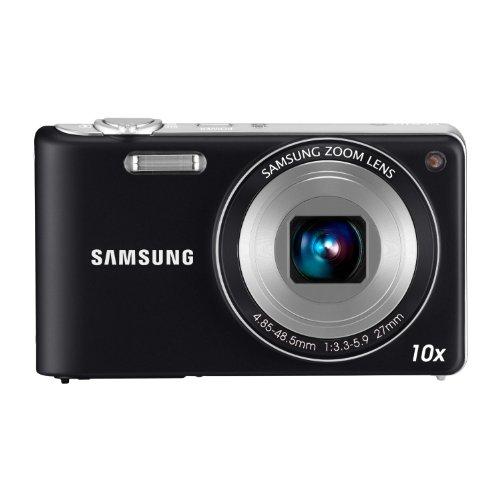 Samsung EC-PL210ZBPBE1 - Cámara Digital Compacta 14.2 MP, Pantalla LCD 3 Pulgadas, 10x Zoom Óptico, Color Negro