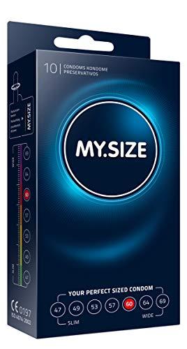 MY.SIZE - Condones, 60 mm, 10, Transparente (MS6010)