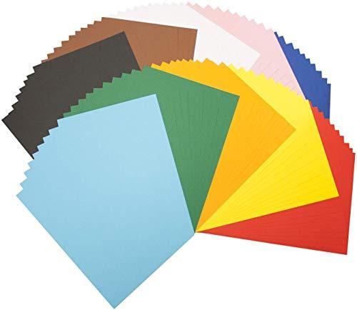 Folia 605 - gekleurd papier DIN A4, 100 vellen gesorteerd in 10 kleuren - de ideale basis voor diverse knutselideeën