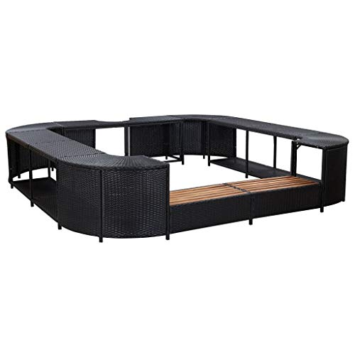 vidaXL Square Spa Surround Water and Weather Resistant Chic Modern...
