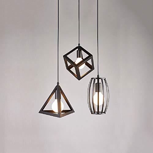 ZY * Verstelbaar, modern, eenvoudig, drie koppen, restaurant, ijzerkrans, creatieve persoonlijkheid, industriële hanglampen, woonkamer, zwarte lamp (maat: ronde plafondplaat)