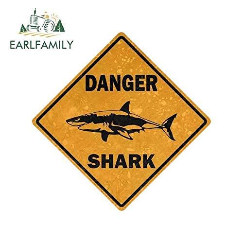 FAFPAY Car sticker 13cm x 13cm car sticker decal car bike motorcycle danger sign shark area surf bumper decorationStyle A