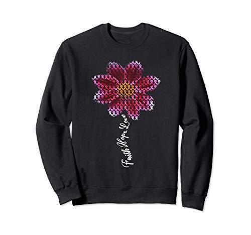 Flor de cinta rosa Octubre Mes de la conciencia del cáncer Sudadera