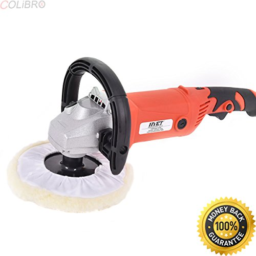 """COLIBROX--7"""" Car Polisher 6 Variable Speed Buffer Waxer Sander Detail Boat w/Accessories. professional car polishers and buffers. best cordless buffer polisher. best car polisher machine."""