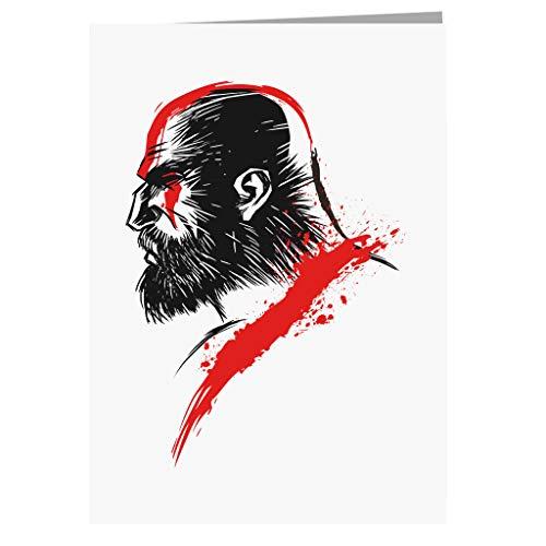 God van de oorlog Kratos wenskaart