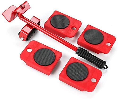FCXBQ Elevador móvil de Muebles y 4 Paquetes de 10,5 cm x 8 cm, Kit de toboganes para Muebles, Herramientas de Movimiento de Rodillos Pesados para Muebles con un máximo de 150 kg / 330 Libras, r