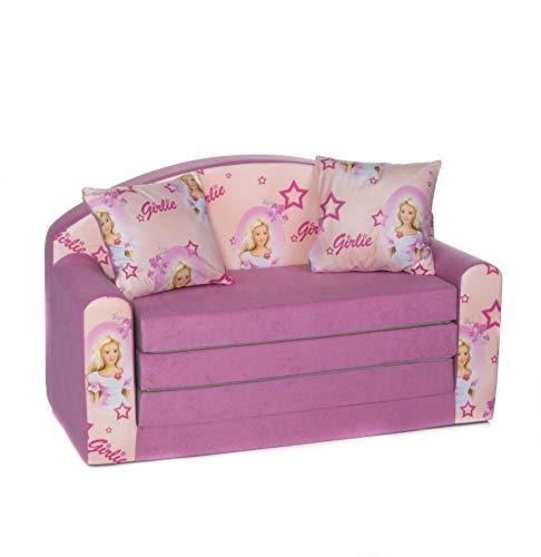 COCO-baby Kindersofa Schaumstoff Spielsofa mit Bettfunktion 3in1 Matratze Spieltisch Sofa Spielzeug ((1XN) Girlie)