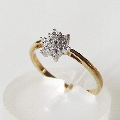 Gouden entourage ring met briljant