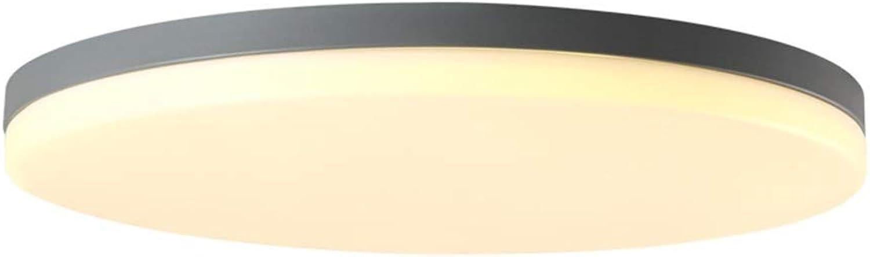 Deckenleuchte Round Bedroom LED Deckenleuchte 5cm Ultradünne Wohnzimmerleuchte Kinderzimmerleuchten Kinderzimmerleuchte Grau (Farbe   Warmes Licht-63cm 44W)