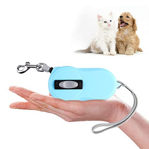 SUPERNIGHT Ausziehbare Hundeleine, 3 m, 360° verwicklungsfrei, Mini-Hundeleine, ideal für kleine Rassen, Hunde, Katzen, Kaninchen unter 10 kg, mit einfacher Bremse und Verriegelung, Blau