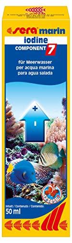 sera marin COMPONENT 7 iodine enthält das wichtige Spurenelement Iod für Korallen & Wirbellosen im Meerwasser bzw. Meerwasseraquarium, farblos, 3431