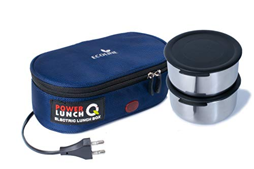 Ecoline Power Lunch Q2, Electric Lunch Box,Capacity 800ml,(2 Containers 400ml) Blue