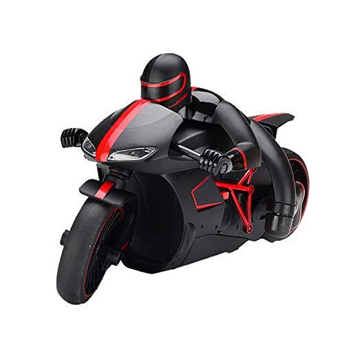 ZMH 2.4G Mini Moda RC Motocicleta con Luz Fresca De Alta Velocidad RC Modelo De Moto Juguetes De Control Remoto Drift Motor Niños Juguetes para Regalo,Red