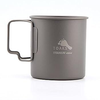 TOAKS Tasse de camping en titane (375mL, 450mL, 550mL, 650mL, 750mL, 800mL, 900mL), Witthout Lid