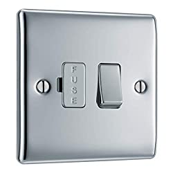 SLEEK AND SLIM POLISHED CHROME FUSED CONNECTION UNIT: From BG Electrical, has softly rounded corners and colour matching fixing screws– combining quality with modern elegance PART OF THE NEXUS METAL RANGE: The switched fused unit perfect for installa...