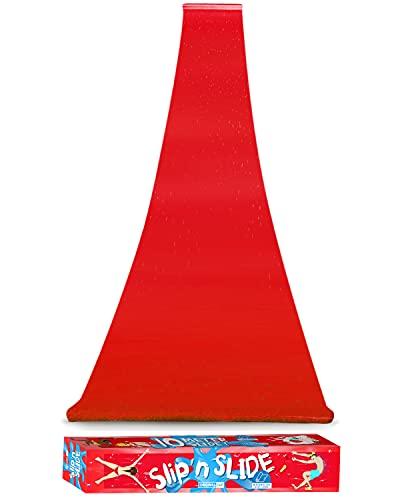 Offizielle XXL Riesige Wasserrutschmatte | 10 Meter Wasserrutsche | Bauch Rutscher | Slip'n Slide | Wasserspiel im Freien | Freiluftspiel | Schnellste Rutsche