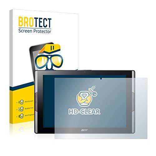 BROTECT Schutzfolie kompatibel mit Acer Iconia Tab 10 A3-A50 (2 Stück) klare Bildschirmschutz-Folie