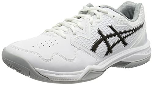 ASICS Gel-Dedicate 7 Clay, Zapatillas de Tenis Hombre, Blanco y Negro, 44 EU