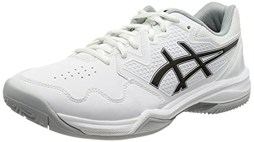 ASICS Gel-Dedicate 7 Clay, Scarpe da Tennis Uomo, White/Black, 46 EU