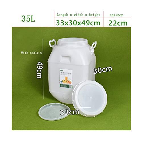 WYNZYYX Lebensmittelechte Eimer Mit Großem Fassungsvermögen for Den Hausgebrauch, Mit Deckel for Den Außenbereich (Size : 50L (Cubic))