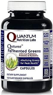 Qultured Fermented Greens - Alkalize for Peak Health, 150 Caps, Vegan Product with Live Probiotics, Prebiotics and Postbiotics