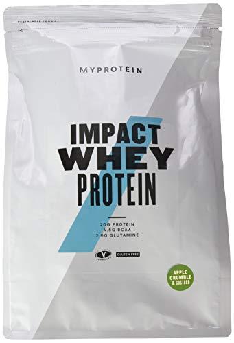 Myprotein Impact Whey Protein Apple Crumble und Custard (Apfelkuchen/ Vanillesoße) 1er Pack (1 x 1000 g)