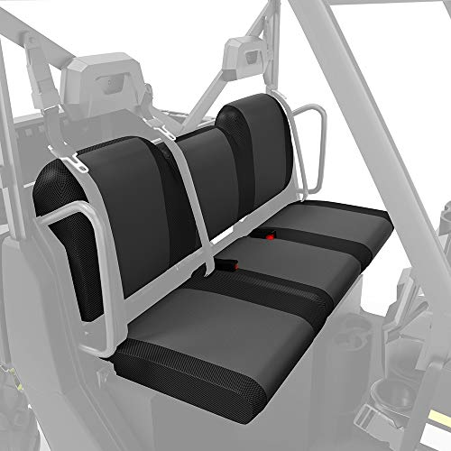 UTV Seat Cover, kemimoto Waterproof Seat Cover Set Compatible with 2017-2021 Polaris Ranger XP 1000/Crew(Fits Front and Rear Seats)