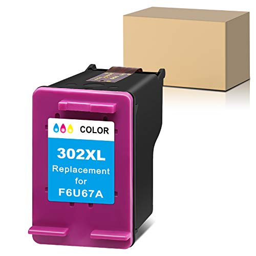 Sunnieink Cartuccia d'inchiostro rigenerata per HP 302 302XL utilizzare in HP Officejet OfficeJet 3832 4650 3831 3835 5220 5230 Envy 4527 4520 4524 DeskJet 3630 3637 2130 2132 1110 (1 Colore)