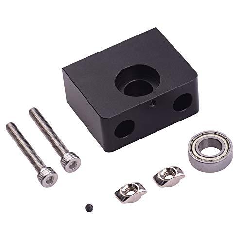 Aibecy Tornillo de cabeza de eje Z Soporte de cojinete de varilla Z de metal de montaje superior Compatible con la impresora 3D Ender-3 CR-10