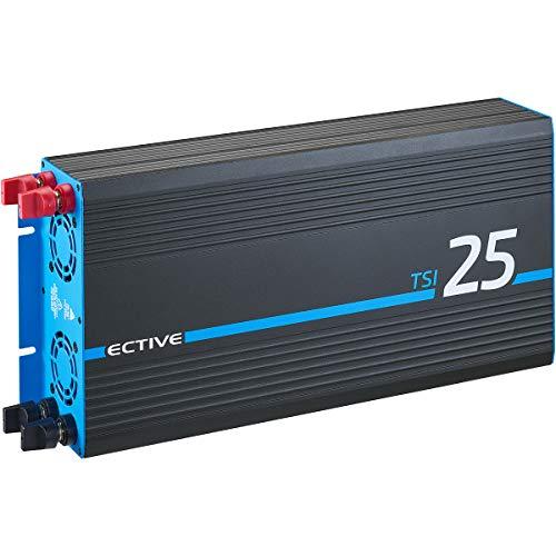 ECTIVE 2500W 12V zu 230V Reiner Sinus-Wechselrichter TSI 25 mit integrierter NVS- und USV-Funktion