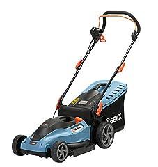 SENIX elektrisk gräsklippare, gräsklippare för en välskött trädgård, 1800 W elmotor, 42 cm skärbredd för medelstora gräsmattor, med 50 L fångstkorg & nivåindikator