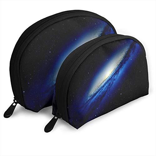 XCNGG Milky Way Series Aufbewahrungstasche Geldbörse Kosmetische Reise Aufbewahrungstasche One-Big und One-Small 2Pcs Briefpapier Bleistift Multifunktions-Tasche Child Wallet Key Case Handtasche