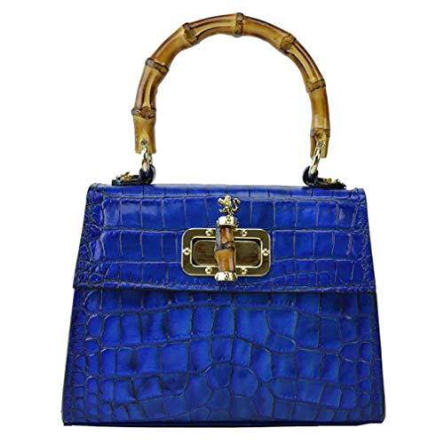 Pratesi Castalia Bolsa de Mano - K298/26 King (Azul eléctrico)