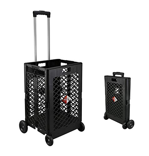 Olympia Tools 85-404 Pack-N Mesh Rolling Cart, 55 Lb, Plastic, 55LB, Black