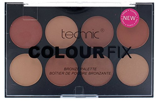 Colour Fix von Technic, Palette mit gepresstem Bronze-Puder - Bräunungspuder-Palette zum Konturieren
