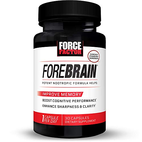 Forebrain Cognitive Performance Nootropic with COGNIGRAPE & Thinkamine – Improve Memory, Focus, Clarity, & Mental Energy, Force Factor, 30ct.