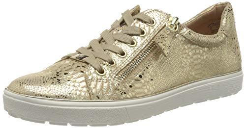 CAPRICE Damen Manou Sneaker, Gold (LT Gold REPTIL 957), 36 EU