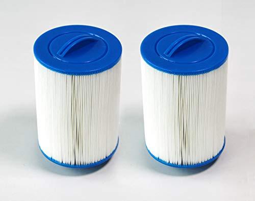 PrimeRelax Whirlpoolfilter Kartuschenfilter 2er-Pack, 46 mm Filtergrobgewinde
