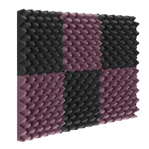 """Acoustic Foam Panels 24 Pack 2""""x12""""x12"""" Sound Proof Padding Studio Foam Egg Crate (24 Square Feet)"""