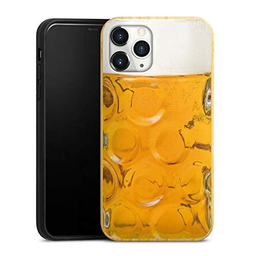 DeinDesign Holz Hülle kompatibel mit Apple iPhone 11 Pro Bambus Handyhülle Echtholz Hülle Bier Glas Oktoberfest